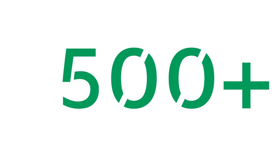 Yli 500 ominaisuutta